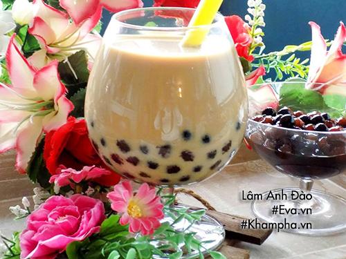 món ngon dễ làm, Học làm trà sữa trân châu từ bột sắn dây siêu dễ