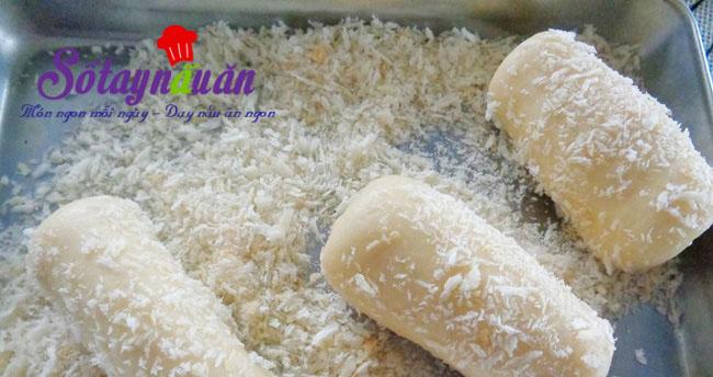 Bánh mì chiên nhân kem custard cực giòn cực ngon