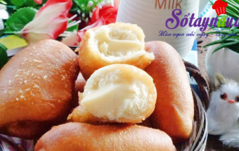 cách làm bánh, Bánh mì chiên nhân kem custard cực giòn cực ngon