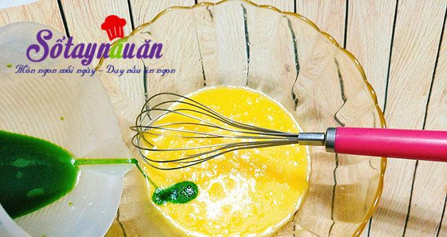 Cách làm bánh chiffon lá dứa thơm mềm xốp cực ngon 2
