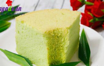 Làm bánh ngọt, Cách làm bánh chiffon lá dứa thơm mềm xốp cực ngon