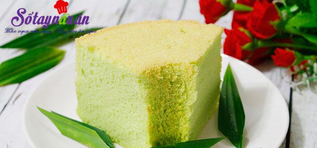 Cách làm bánh chiffon lá dứa thơm mềm xốp cực ngon
