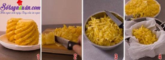 cách làm bánh dứa 2