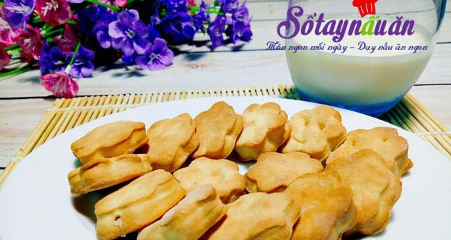 Cách làm bánh quy bơ sữa giòn,thơm, ngon ngất ngây