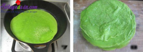 cách làm bánh crepe sầu riêng 3