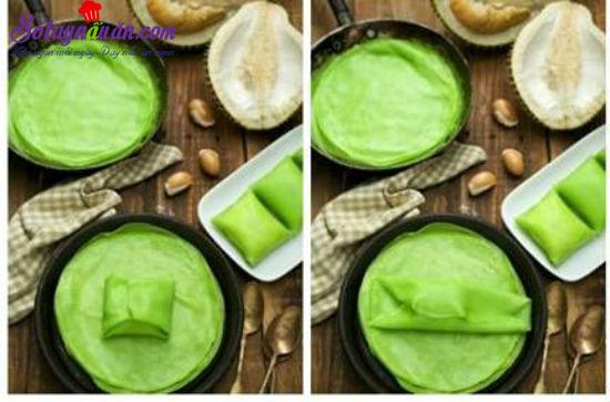 cách làm bánh crepe sầu riêng 4