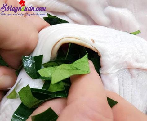 cách làm dạ dày chiên lá mắc mật 2