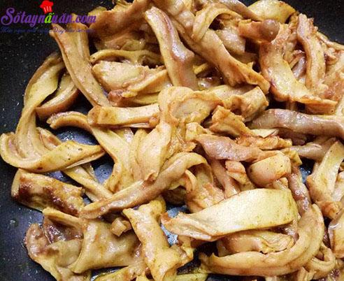 cách làm dạ dày chiên lá mắc mật 6