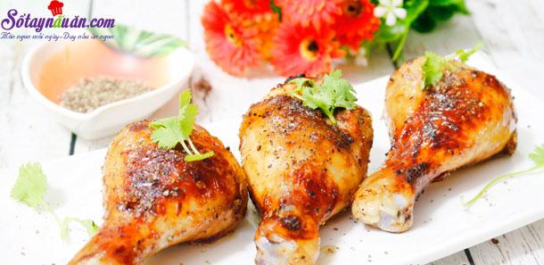 cách làm gà nướng tiêu đen 5