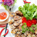 hướng dẫn làm gỏi dạ dày ngó sen, cách làm lòng heo nhồi thịt chiên giòn 9