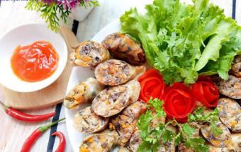 Nấu ăn món ngon mỗi ngày với Hành lá, cách làm lòng heo nhồi thịt chiên giòn 9