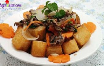 Nấu ăn món ngon mỗi ngày với Hành tây, cách làm phở chiên phồng 5