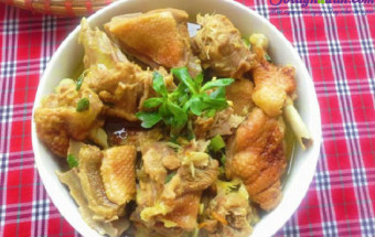 Nấu ăn món ngon mỗi ngày với Gừng, cách làm vịt nấu giả cầy 1