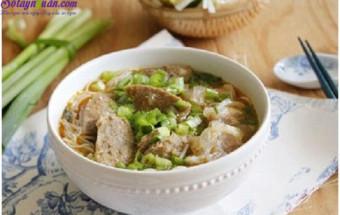 Nấu ăn món ngon mỗi ngày với Rau ăn kèm, cách làm bún bò viên 8