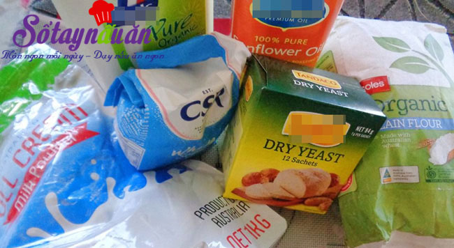 Cách làm bánh bao chay sữa cực ngon cho bữa sáng nguyên liệu