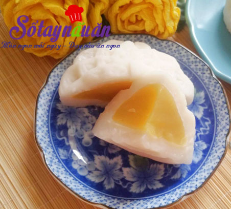 Cách làm bánh dẻo nhân đậu xanh hương hoa bởi thơm lừng