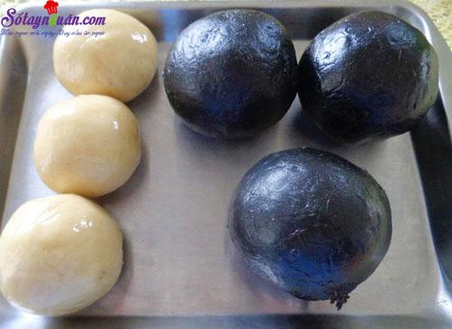 cách làm bánh nướng nhân mè đen trứng muối 6