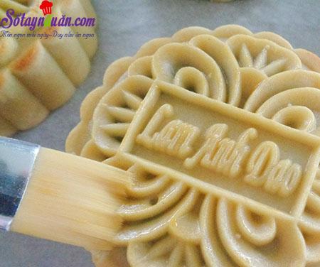 cách làm bánh nướng nhân mứt dứa 11
