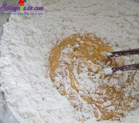 cách làm bánh nướng nhân sữa dừa 2