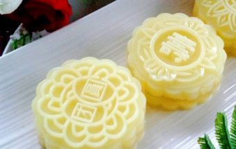Nấu ăn, cách làm bánh trung thu thạch rau câu vị sầu riêng 9