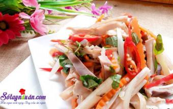 Nấu ăn món ngon mỗi ngày với Hành lá, cách làm gỏi dạ dày ngó sen 7