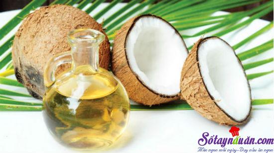 công dụng của dầu dừa 1