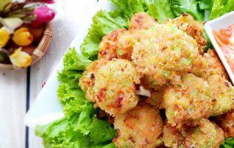 món ngon dễ làm, cách làm chả mực đậu hũ 6