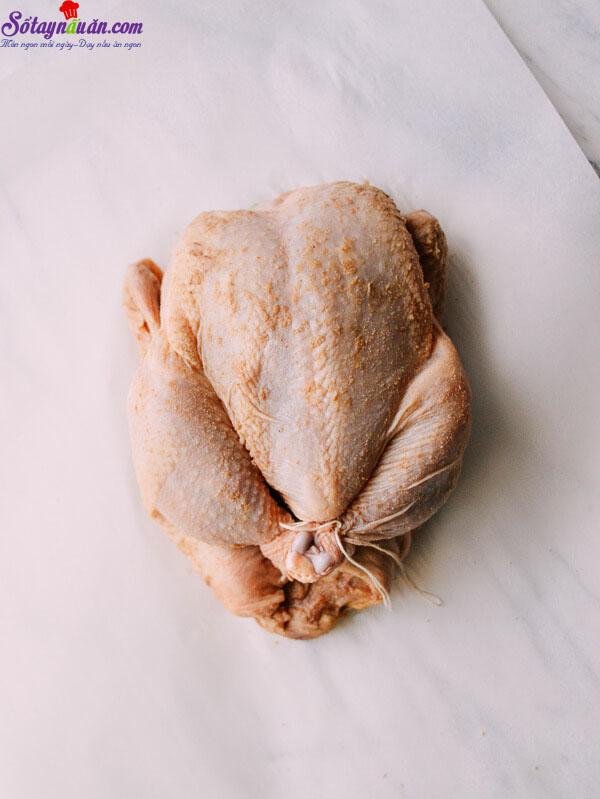 cách làm gà nướng muối 1