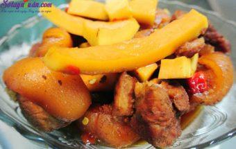 ăn ngon mỗi ngày, cách làm thịt ba chỉ kho dừa 4