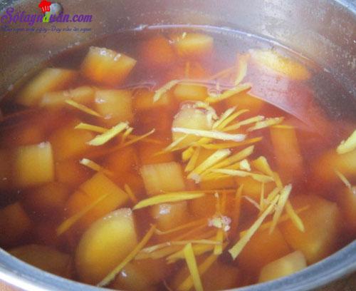 cách pha trà sắn nóng 3