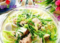 Học làm thịt vịt hầm khoai sọ rau rút ăn là mê