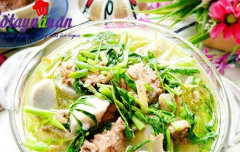 món ăn hà nội, Học làm thịt vịt hầm khoai sọ rau rút ăn là mê