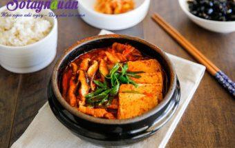 Làm đồ ăn sáng, Hướng dẫn nấu canh kim chi đậu phụ cay cay ngon ngọt