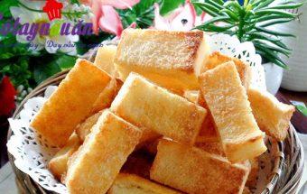 cách làm bánh, Học làm bánh mì nướng bơ đường thơm ngon siêu hấp dẫn