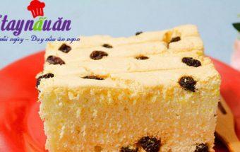 Bánh ngọt, Hướng dẫn làm bánh bông lan nho khô thơm ngon hết nấc