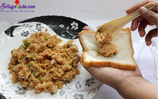 cách làm bánh mì bọc khoai tây chiên giòn 10