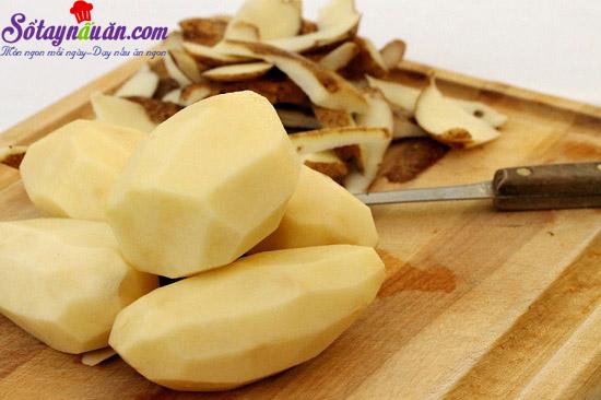 cách làm bánh mì bọc khoai tây chiên giòn 2