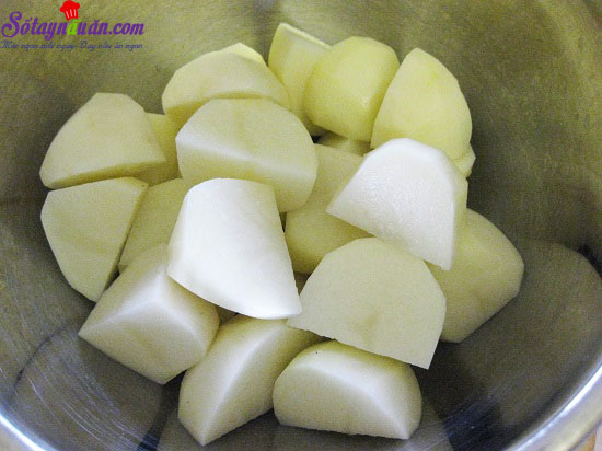 cách làm bánh mì bọc khoai tây chiên giòn 4