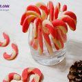 hướng dẫn làm bánh chuối quả mâm xôi, cách làm bánh quy hình kẹo gậy 7