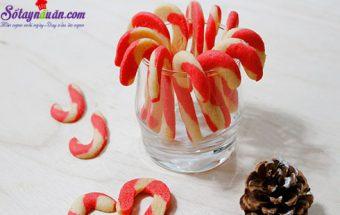 các món bánh, cách làm bánh quy hình kẹo gậy 7