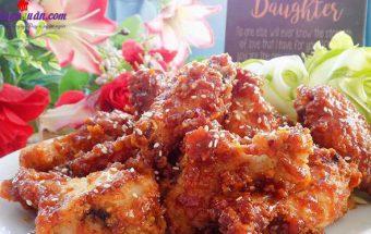 món ngon mỗi ngày, cách làm gà chiên giòn sốt chua ngọt 8