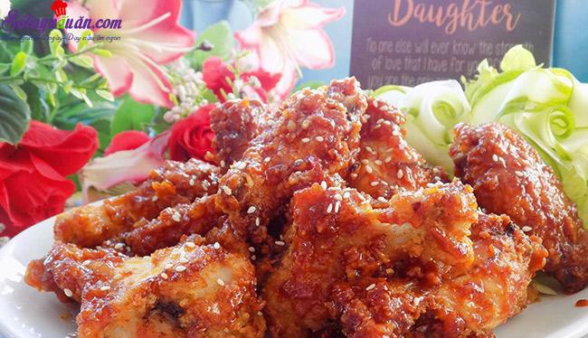 cách làm gà chiên giòn sốt chua ngọt 8