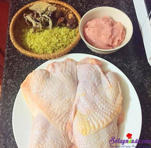 cách làm gà cuộn cốm 1