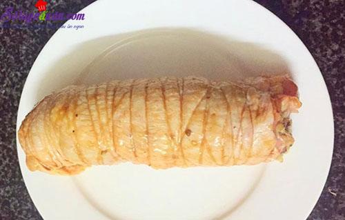 cách làm gà cuộn cốm 5