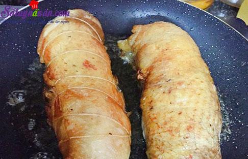 cách làm gà cuộn cốm 7