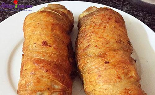cách làm gà cuộn cốm 8