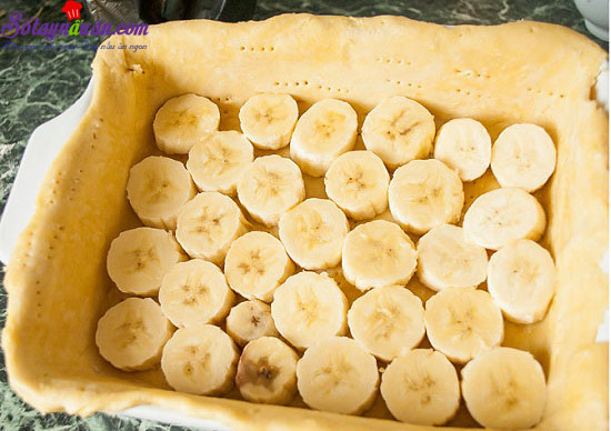 cách làm bánh chuối quả mâm xôi 11