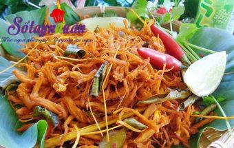 Các món ăn vặt, Cách làm khô gà lá chanh cực dễ tha hồ mà nhâm nhi