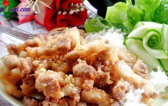 hướng dẫn cách nấu ăn ngon hàng ngày, cách làm thịt chiên xóc tỏi 5