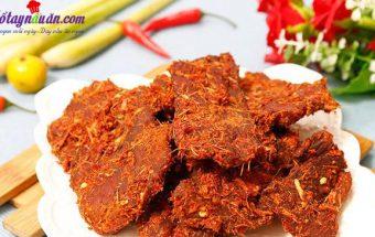 Các món ăn vặt, cách làm thịt heo khô cay 8